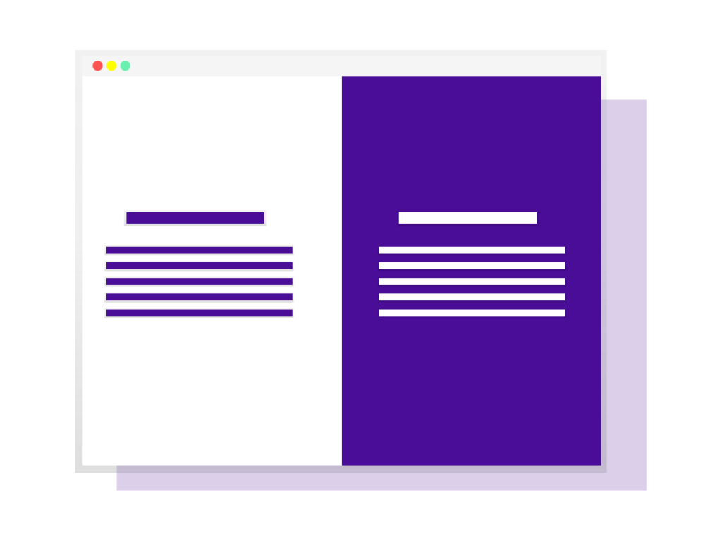 Illustration of document coloured purple