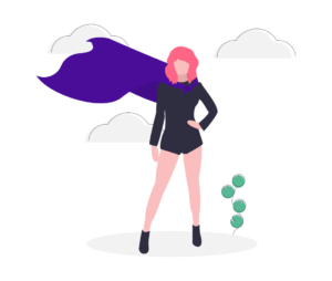 Illustration of strong woman promoting better thyroid health